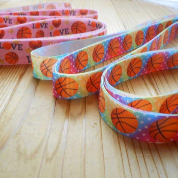 バスケットボール柄のラッピング用リボン(約5メートル)  1柄【画像2】