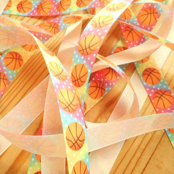 バスケットボール柄のラッピング用リボン(約5メートル)  1柄【画像3】