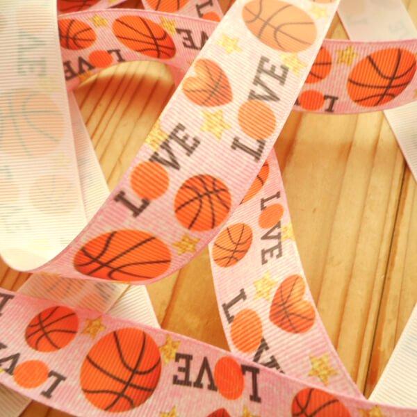 バスケットボール柄のラッピング用リボン(約5メートル)  1柄【画像4】