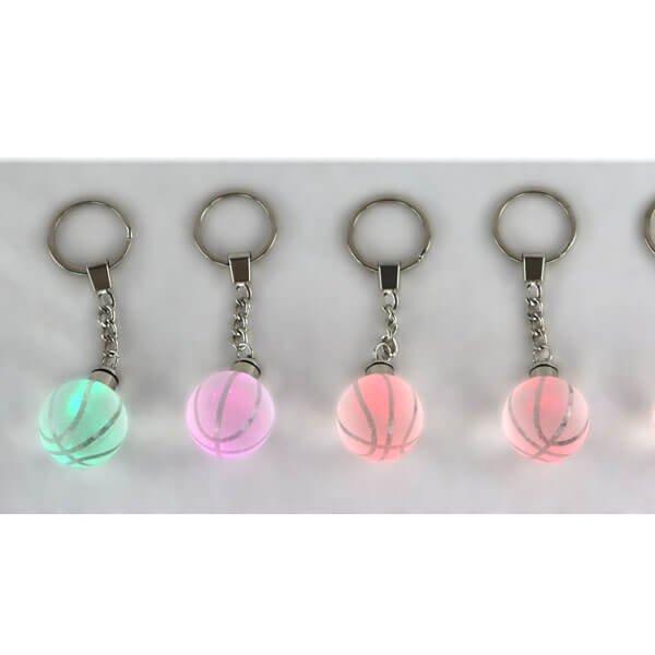 キレイに色が変化するバスケットボールクリスタルキーホルダー(1個)