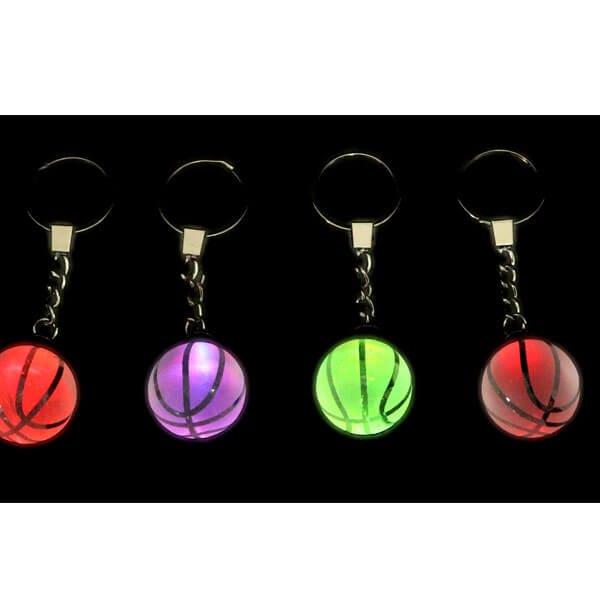 キレイに色が変化するバスケットボール クリスタルキーホルダー【画像2】