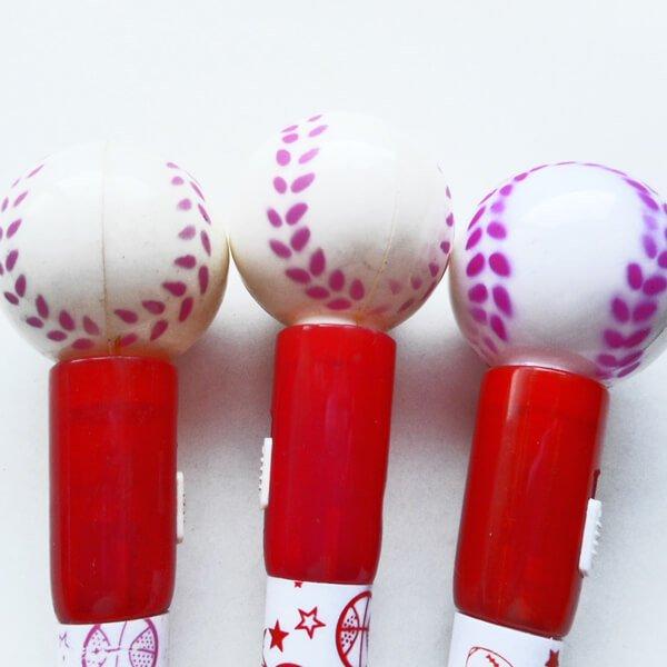 大きいプラ野球ボール付きレアボールペン【画像2】