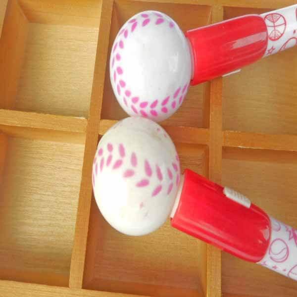 大きいプラ野球ボール付き レアボールペン【画像3】