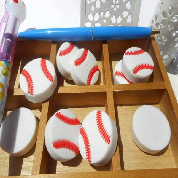 野球文具コイン型消しゴム野球のボール【画像2】