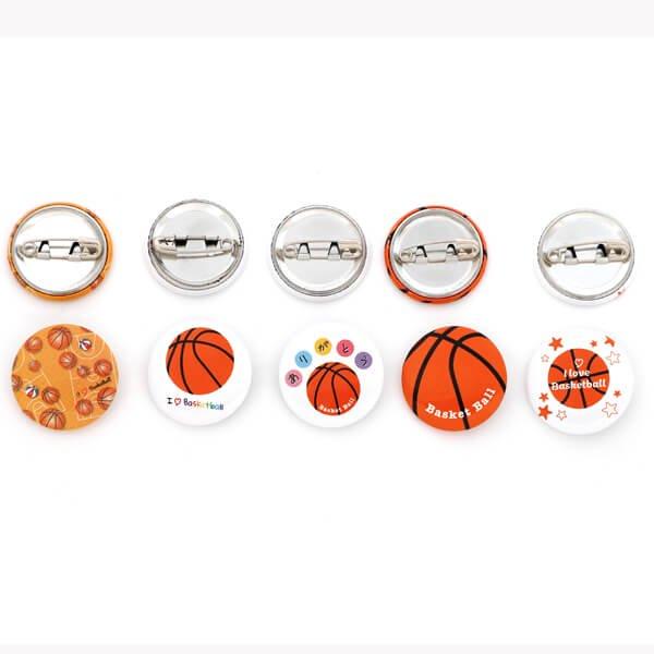 セットがお得! オリジナルバスケットボール缶バッチ(ミニサイズ) 単価90円〜