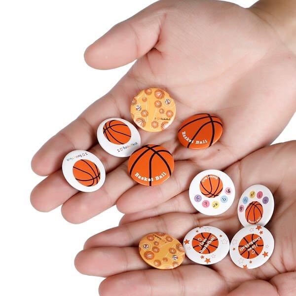 セットがお得! オリジナルバスケットボール缶バッチ(ミニサイズ) 単価90円〜【画像3】