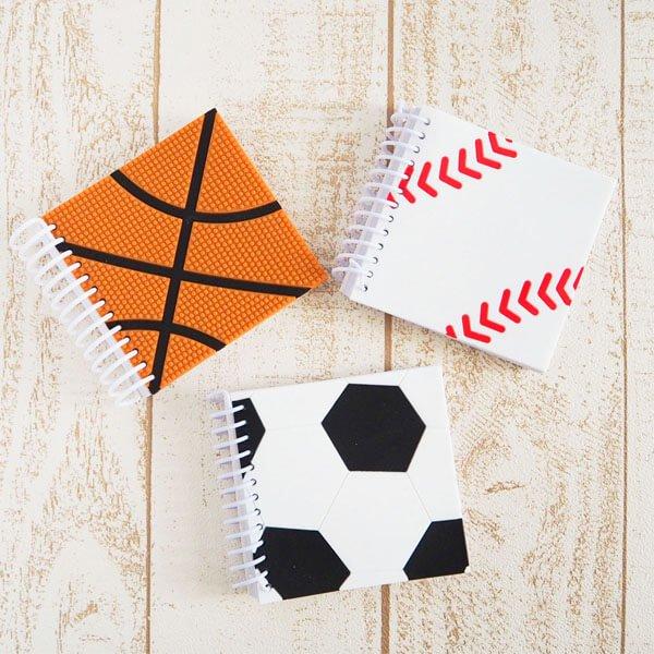 期間・数量限定セール サッカーボール柄 リング付きミニメモ帳(ボール部分が可愛いゴム)【画像4】