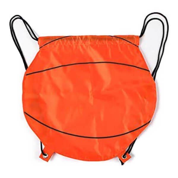 バスケットボール型のオリジナル巾着袋