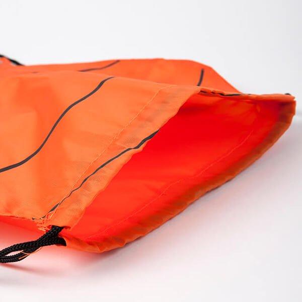 バスケットボール型のオリジナル巾着袋【画像3】