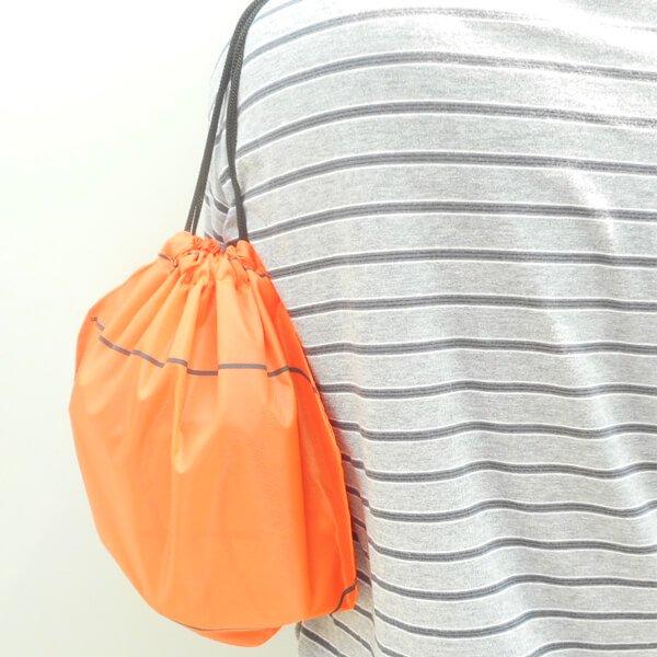 バスケットボール型のオリジナル巾着袋【画像4】