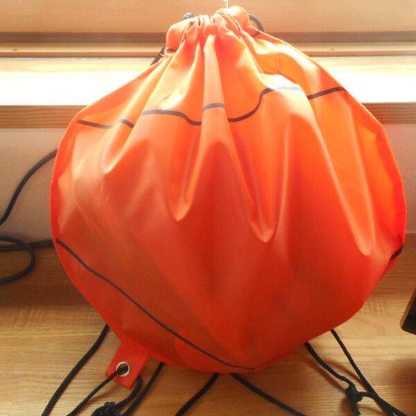 バスケットボール型のオリジナル巾着袋【画像5】