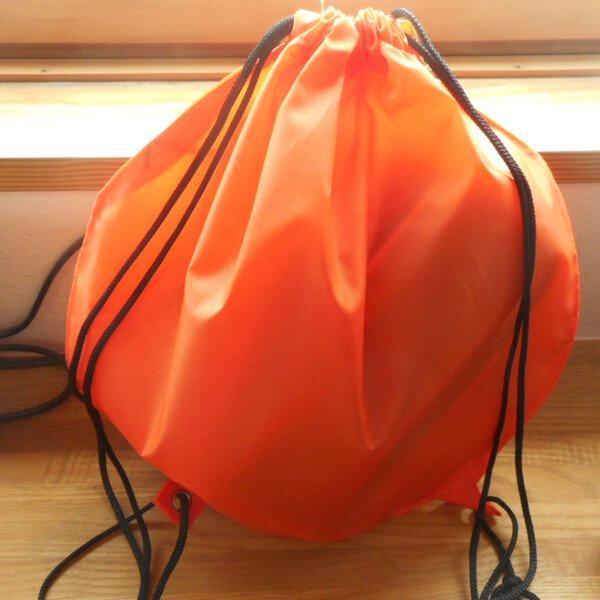 バスケットボール型のオリジナル巾着袋【画像6】