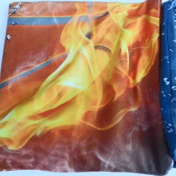 炎と水しぶきがカッコいい「バスケットボールのクッションカバー」【画像4】