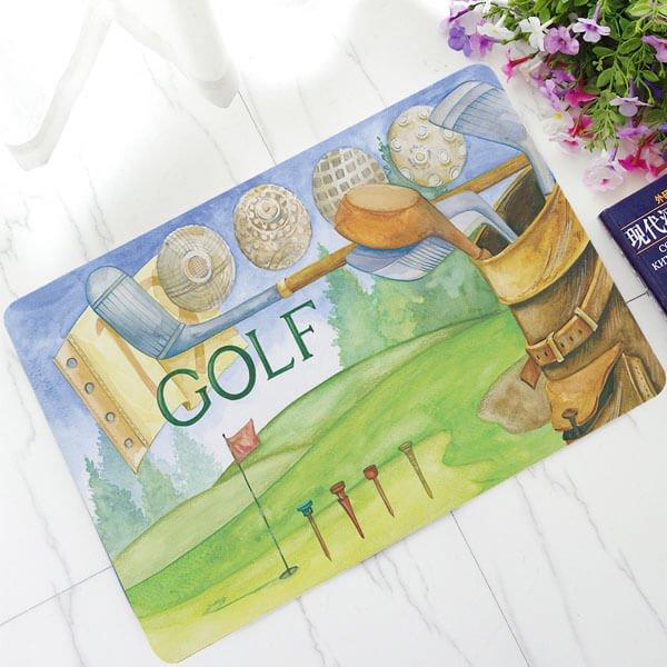 癒しのゴルフ柄 WELCOMマット