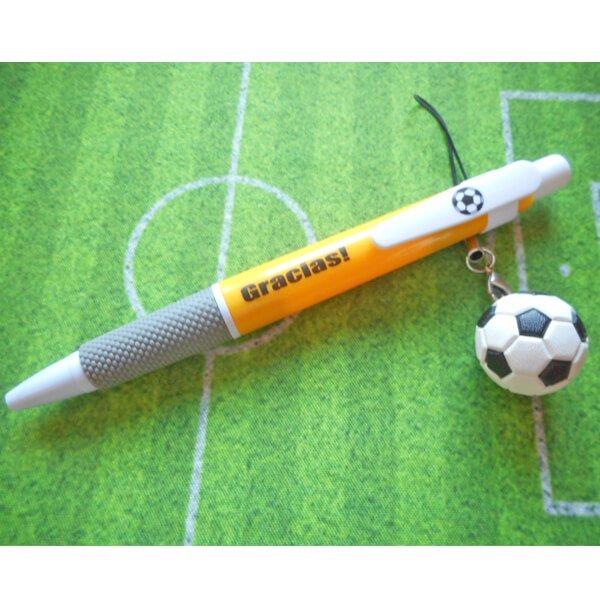 サッカーボール柄入りのシンプルボールペン Gracias【画像4】