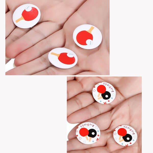 オリジナル卓球ラケット缶バッチ(ミニサイズ)【画像4】
