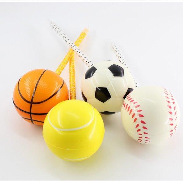 大きいPUボール付きボールペン バスケットボール【画像2】