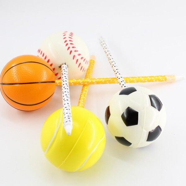 大きいPUボール付きボールペン バスケットボール【画像3】