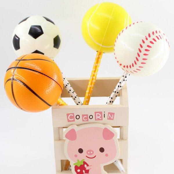 大きいPUボール付きボールペン バスケットボール【画像4】