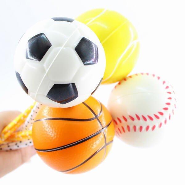大きいPUボール付きボールペン バスケットボール【画像5】