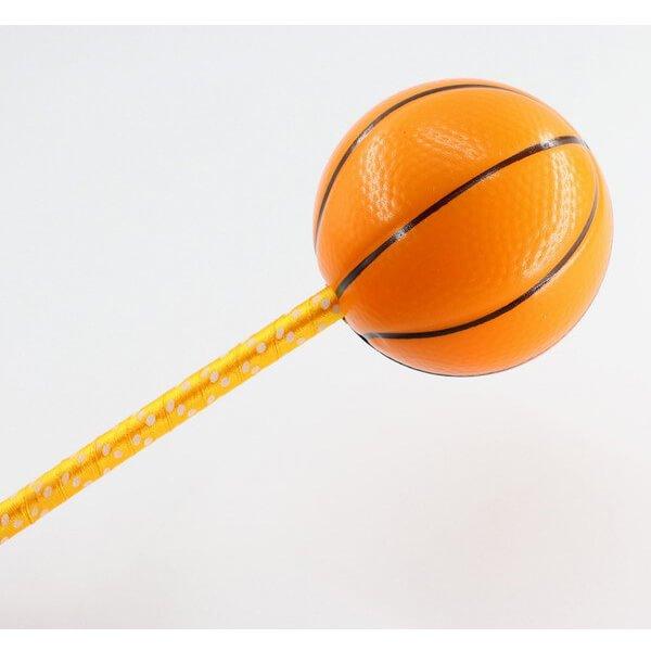 大きいPUボール付きボールペン バスケットボール【画像6】