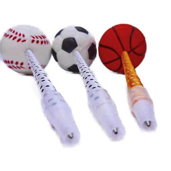 大きいPUボール付きボールペン バスケットボール【画像8】