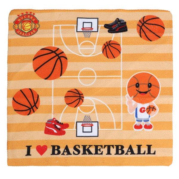 グラシアスオリジナルミニタオル  バスケットボール( I LOVE BASKETBALL )【画像2】