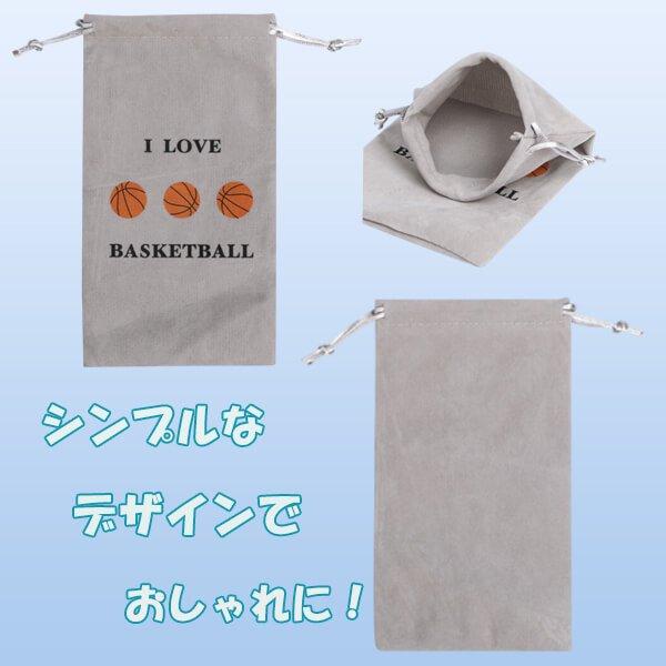 グラシアスオリジナル  バスケットボール柄スマホポーチ(マイクロファイバー)【画像2】