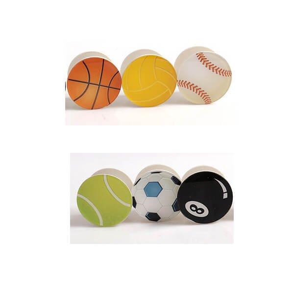 バスケットボールタイプ スマホスタンドにできるイヤホンコード巻き【画像2】