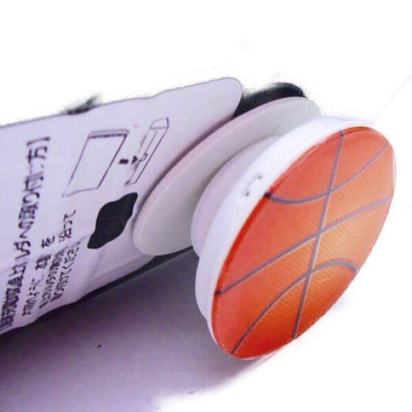 バスケットボールタイプ スマホスタンドにできるイヤホンコード巻き【画像11】
