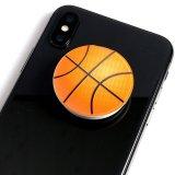 バスケットボールタイプ スマホスタンドにできるイヤホンコード巻き