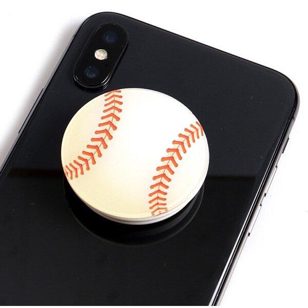 野球のボールタイプ スマホスタンドにできるイヤホンコード巻き