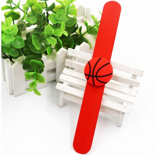 子供用のバスケットボールくるくるシリコンブレスレット