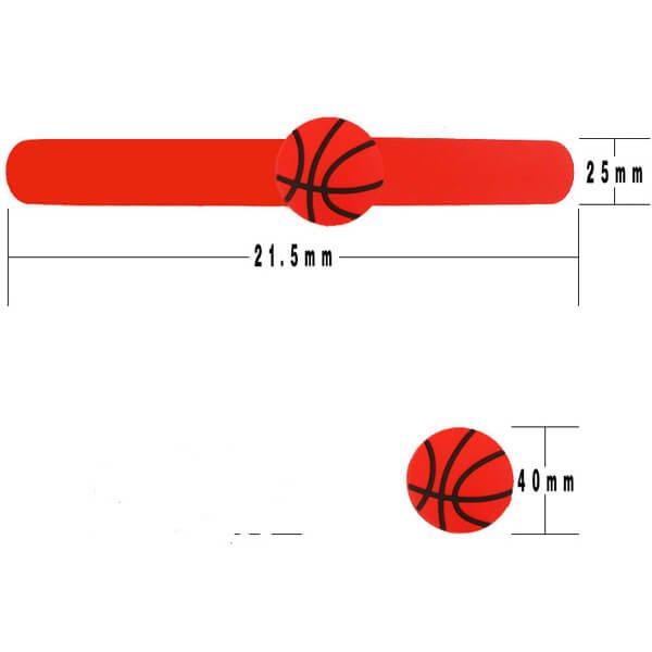 子供用のバスケットボールくるくるシリコンブレスレット【画像2】