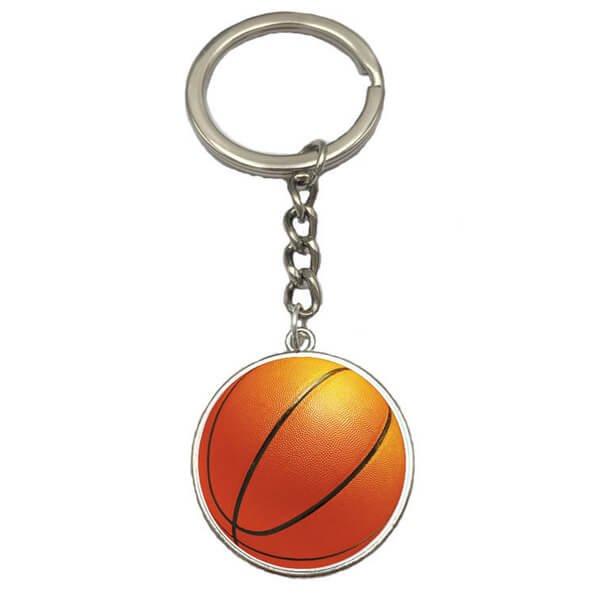 バスケットボールのクリスタルフラットキーホルダー