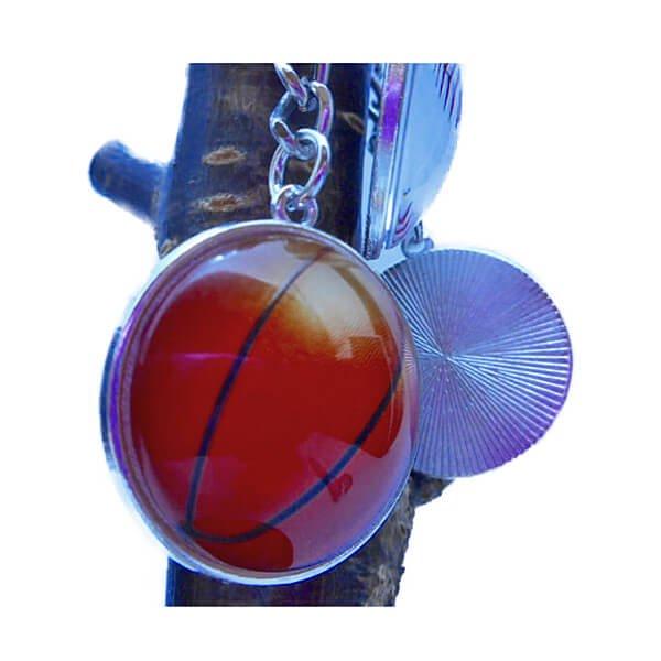 バスケットボールのクリスタルフラットキーホルダー【画像4】