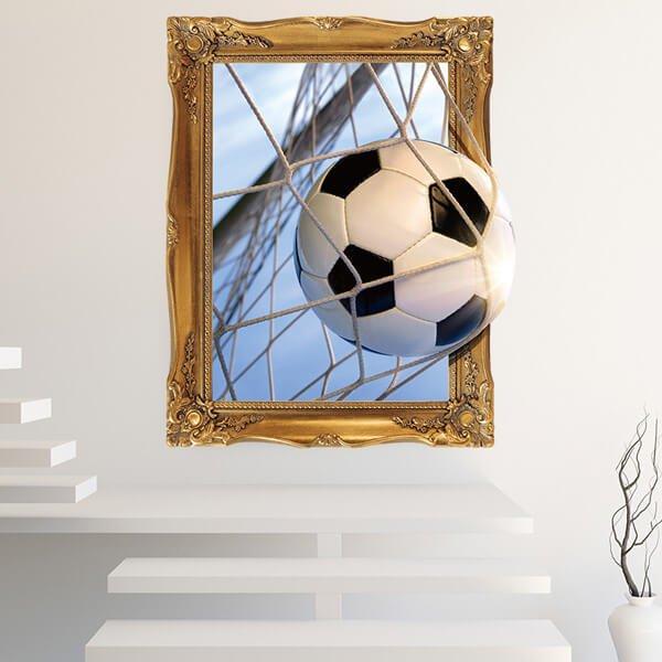 額縁サッカーボール 存在感のあるウォールステッカー