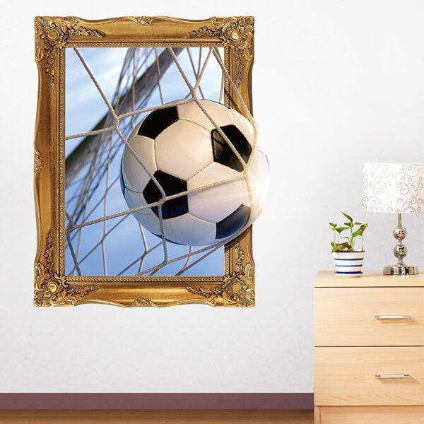 額縁サッカーボール 存在感のあるウォールステッカー【画像2】