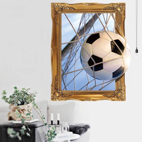 額縁サッカーボール 存在感のあるウォールステッカー【画像3】