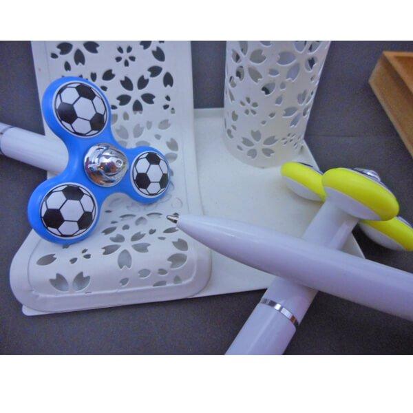 ハンドスピナーサッカーボール付きのボールペン【画像2】
