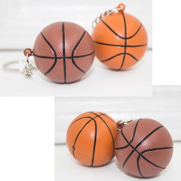 バスケットボール型のサウンドLEDライトキーホルダー【画像2】