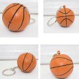 バスケットボール型のサウンドLEDライトキーホルダー