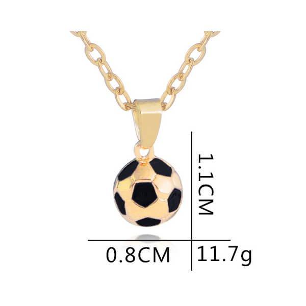 サッカーボール型の美しいネックレス【画像5】