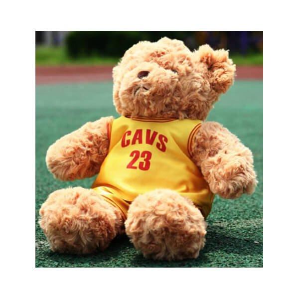 可愛いバスケユニフォームを着たクマのぬいぐるみ
