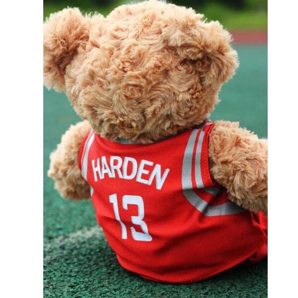 可愛いバスケユニフォームを着たクマのぬいぐるみ【画像3】