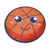 バスケ 景品向け バスケットボールフェイス柄の可愛いミニラバーコースター
