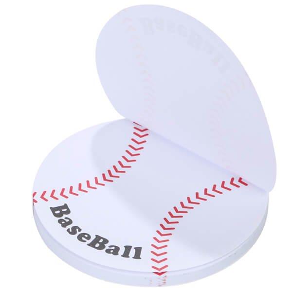 セットでお得! 可愛い野球ボール型のオリジナルカラー付箋メモ 約50枚  単価224円〜【画像2】