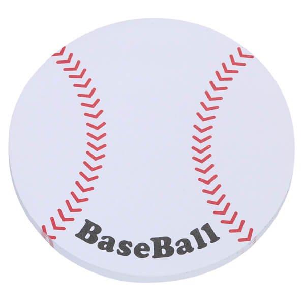 セットでお得! 可愛い野球ボール型のオリジナルカラー付箋メモ 約50枚  単価224円〜【画像3】