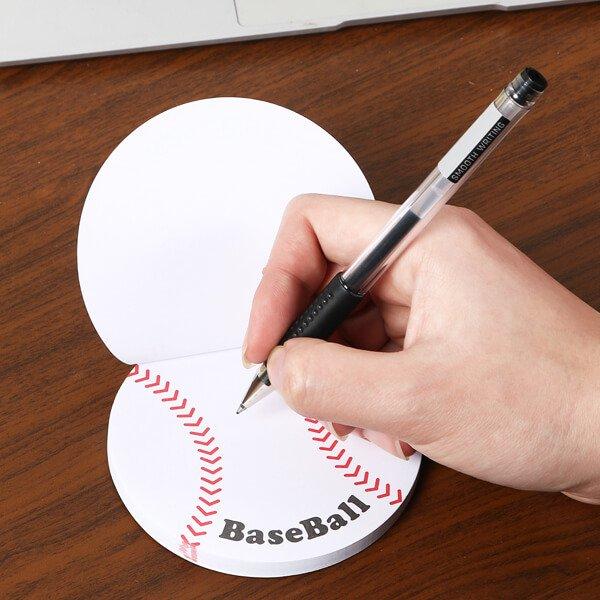 セットでお得! 可愛い野球ボール型のオリジナルカラー付箋メモ 約50枚  単価224円〜【画像4】
