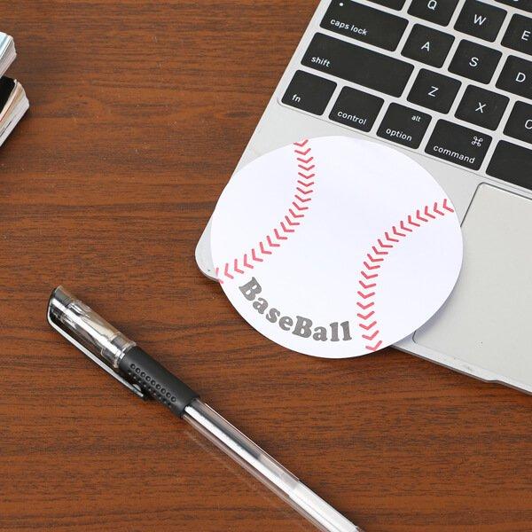 セットでお得! 可愛い野球ボール型のオリジナルカラー付箋メモ 約50枚  単価224円〜【画像5】